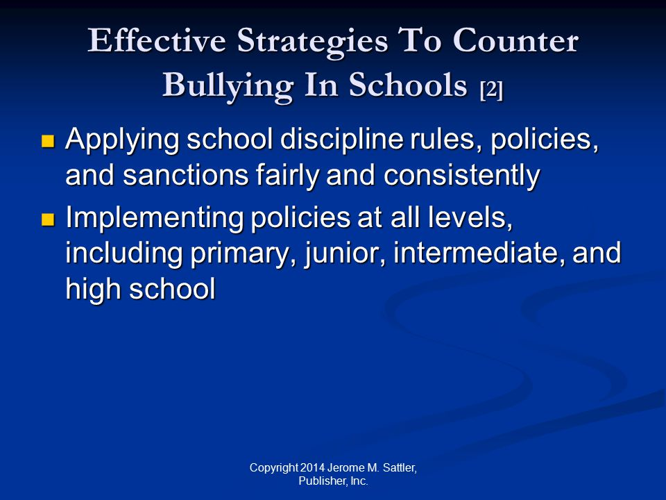 Effective Strategies To Counter Bullying In Schools [2]